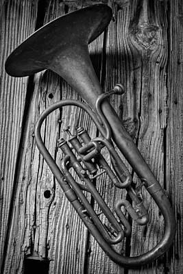 Tuba Photograph - Forgotten Tuba by Garry Gay