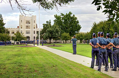 Accountability Photograph - Fork Union Military Academy Parade Day Accountability by Karen Jorstad