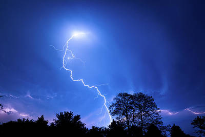 Photograph - Forked Lightning by Max Neivandt