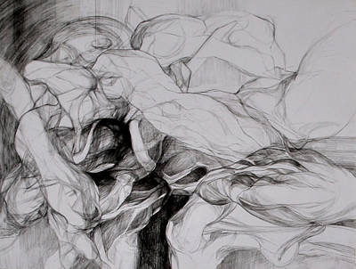Abstracted Figuration Drawing - Formas Liricas Fragmento  by Mirjana Lucic