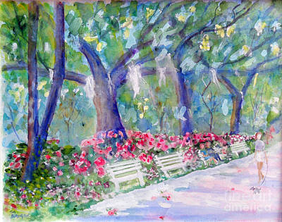 Forsyth Park Savannah Art Print by Doris Blessington