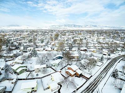 Fort Collins Winter Cityscape Art Print