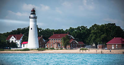 Photograph - Fort Gratiot Lighthouse by Grace Grogan
