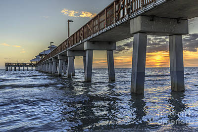 Photograph - Fort Myers Beach Fishing Pier by Edward Fielding
