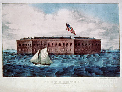 Photograph - Vintage Image Of Fort Sumter by Dale Powell