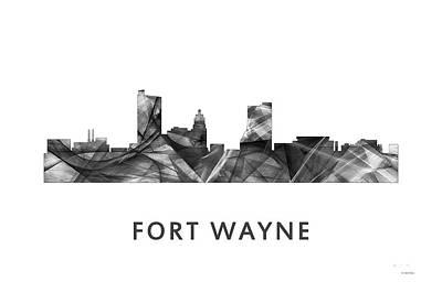 Indiana Landscapes Digital Art - Fort Wayne Indiana Skyline by Marlene Watson