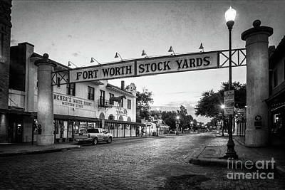 Granger - Fort Worth StockYards BW by Joan Carroll
