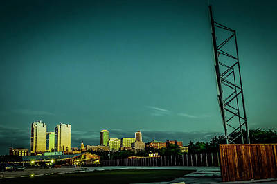 Fortworth Texas Cityscape Art Print