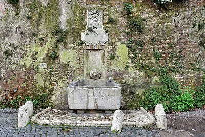 Photograph - Fountain In Rome Italy by Richard Rosenshein