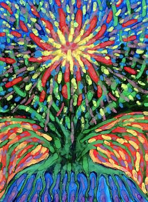 Tree Painting - Fountain by Wojtek Kowalski
