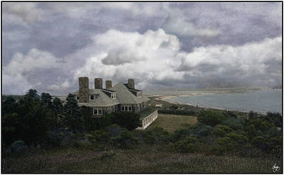 Photograph - Four Chimneys In A Cuttyhunk Storm by Wayne King