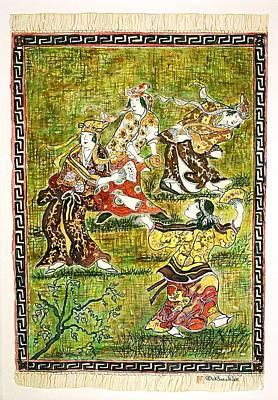 Four Dancers Art Print by Norma Boeckler