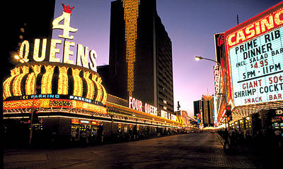 Clouds Royalty Free Images - Four Queens in Las Vegas Royalty-Free Image by Carl Purcell