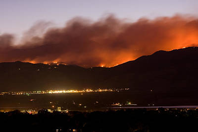 Photograph - Fourmile Canyon Fire Burning Above North Boulder by James BO  Insogna