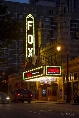 Photograph - The Fox Theater And Coca Cola Atlanta Entertainment Art  by Reid Callaway