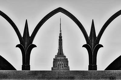 Photograph - Framed Empire State Building Esb Nyc by Susan Candelario