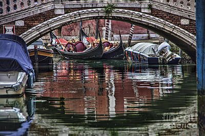 Photograph - Framed Gondolas by Shirley Mangini