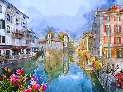 Mixed Media - France by Marvin Blaine