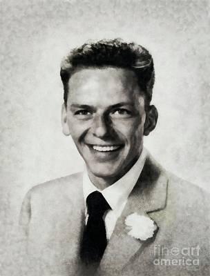 Frank Sinatra Painting - Frank Sinatra, Legend By Js by John Springfield