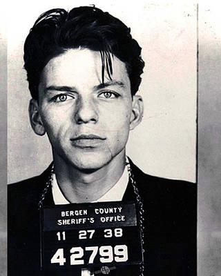Photograph - Frank Sinatra Mug Shot Vertical by Tony Rubino