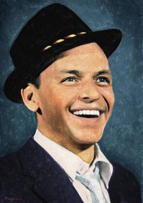 Painting - Frank Sinatra by Taylan Apukovska
