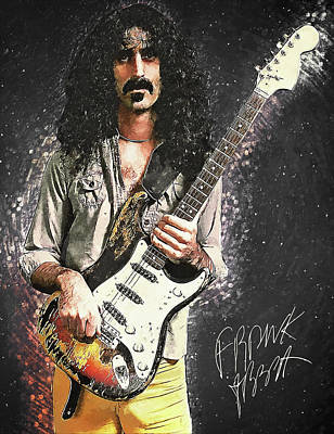 Music Digital Art - Frank Zappa by Taylan Apukovska