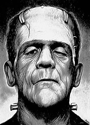 Frankenstein Digital Art - Frankenstein by Greg Joens