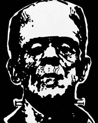 Painting - Frankenstein by Marisela Mungia