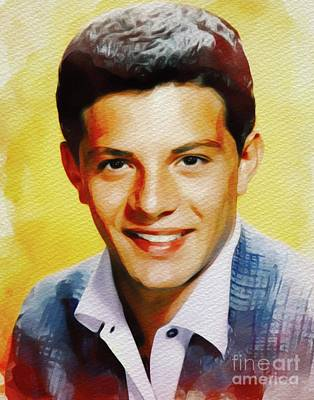 Music Paintings - Frankie Avalon, Music Legend by Esoterica Art Agency