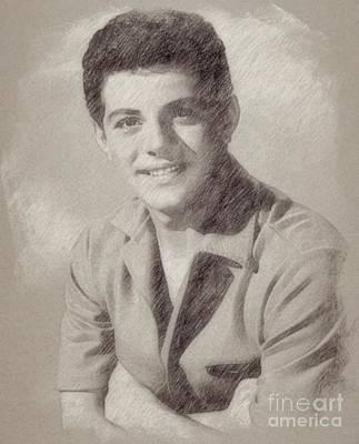 Elvis Presley Drawing - Frankie Avalon Singer by Frank Falcon