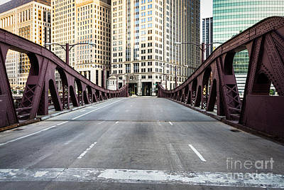 Franklin Orleans Street Bridge Chicago Loop Art Print by Paul Velgos