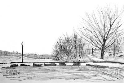 Franklin Park Print by Takao Shinzawa