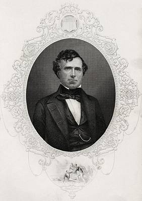 Franklin Drawing - Franklin Pierce 1804-1869 14th by Vintage Design Pics