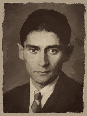 Franz Kafka Art Print by Afterdarkness