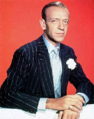 Astaire Painting - Fred Astaire Hollywood Legend by Mary Bassett
