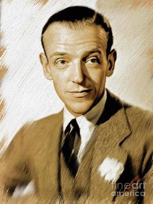 Painting - Fred Astaire, Vintage Actor And Dancer by Mary Bassett