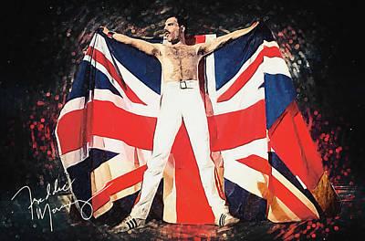 Digital Art - Freddie Mercury by Taylan Apukovska
