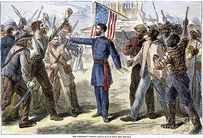 Liberated Photograph - Freedmens Bureau, 1868 by Granger