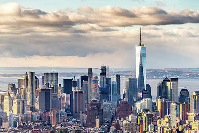 Photograph - Freedom Tower And Lower Manhattan by SR Green