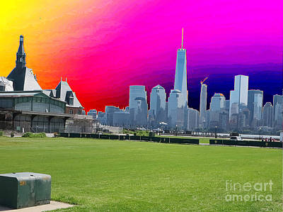 Painting - Freedom Tower Formerly World Trade  Centre Wtc New York Photo Taken On July 4 2015 Usa America's Bir by Navin Joshi