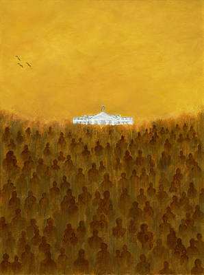 Whitehouse Painting - Freedoms Call by F Geoffrey Johnson