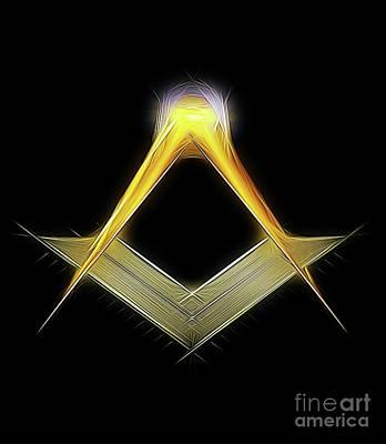 Freemason Symbol By Raphael Terra Art Print by Raphael Terra
