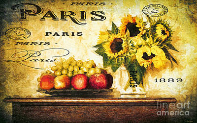 Painting - French Country Sunflowers by Tina LeCour