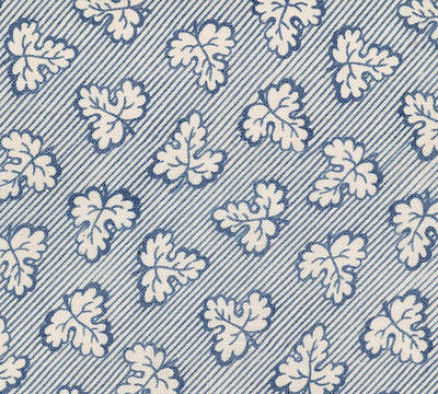 Blue Doodle Drawing - French Fabric Design by French School