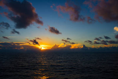 Photograph - French Polynesia Sunset by Martin Naugher