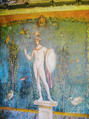 Photograph - Fresco Of Mars In House Of Venus In Pompeii by Patricia Hofmeester