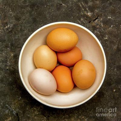 Healthy Eating Photograph - Fresh Eggs In Bowl by Bernard Jaubert