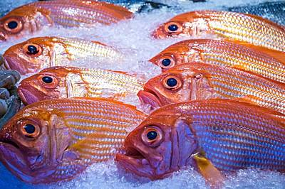 Photograph - Fresh Fish On Ice For Sale At Pike Place Market In Seattle  by Alex Grichenko