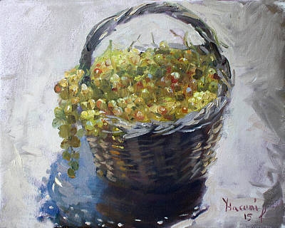 Grape Wall Art - Painting - Fresh From The Garden by Ylli Haruni
