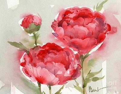 Peony Painting - Fresh Peonies by Paul Brent